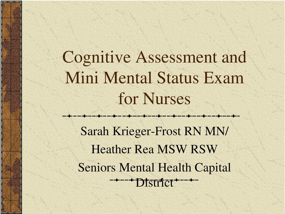 Krieger-Frost RN MN/ Heather Rea MSW