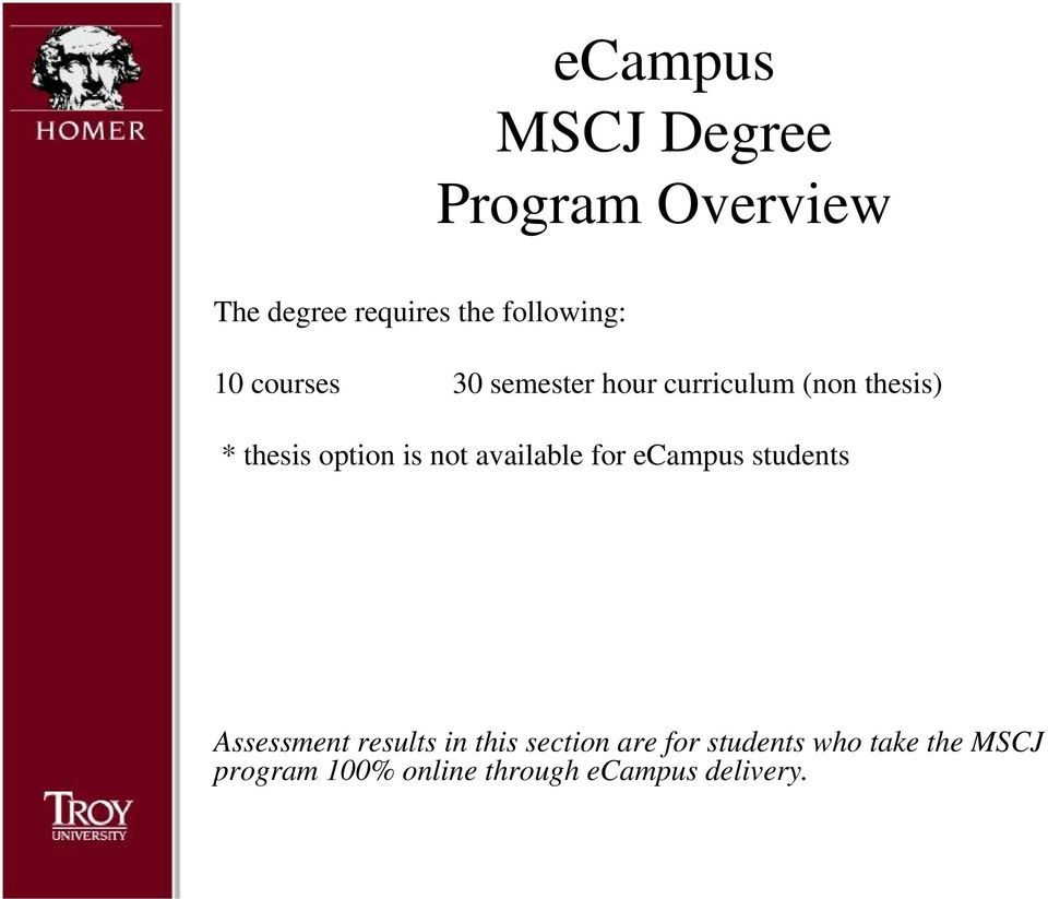 not available for ecampus students Assessment results in this section are
