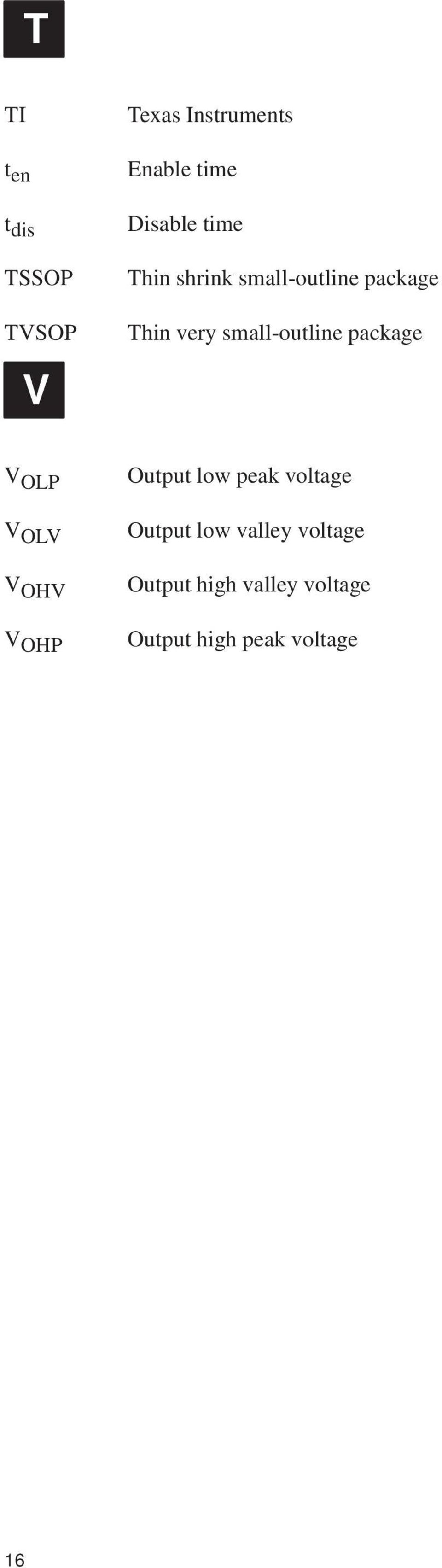small-outline package V OLP V OLV V OHV V OHP Output low peak