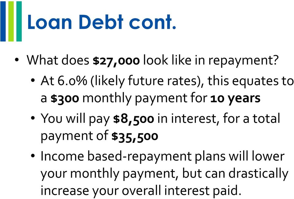 You will pay $8,500 in interest, for a total payment of $35,500 Income