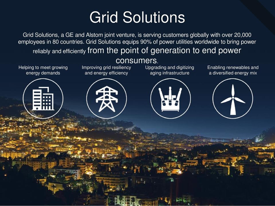 Grid Solutions equips 90% of power utilities worldwide to bring power reliably and efficiently from the point of