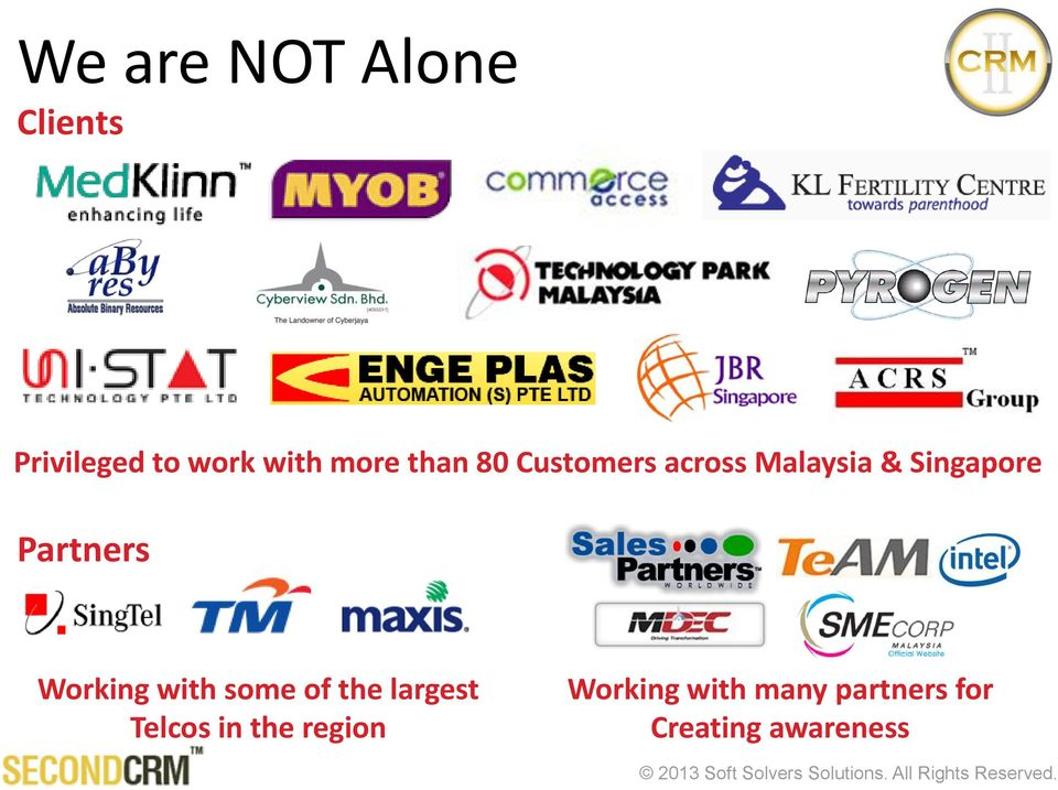 Partners Working with some of the largest Telcos in