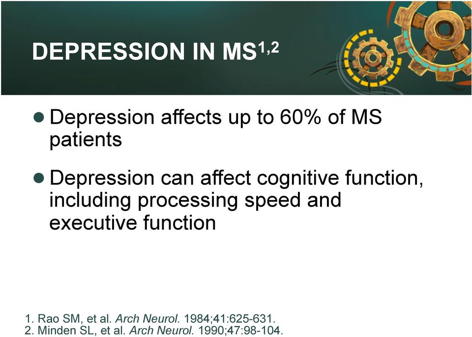 processing speed and executive function 1. Rao SM, et al.