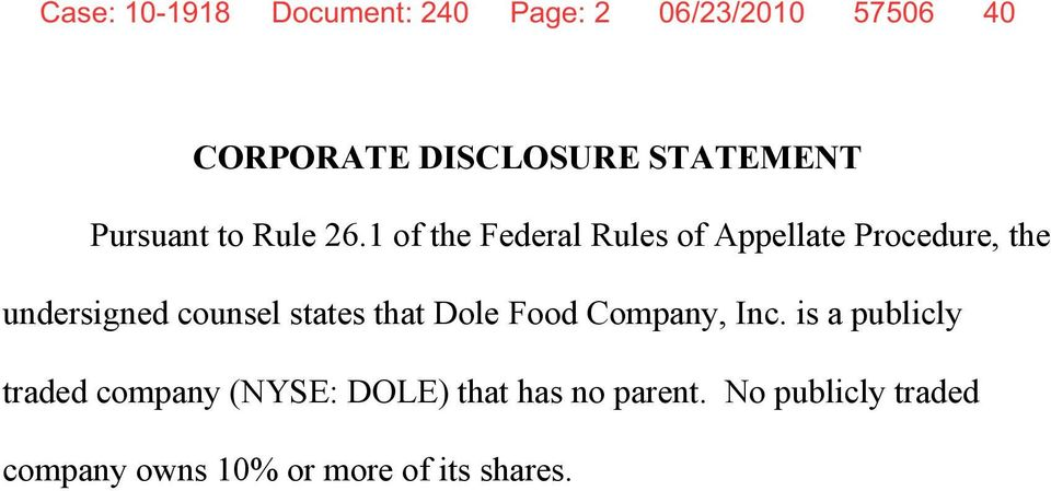 1 of the Federal Rules of Appellate Procedure, the undersigned counsel states that