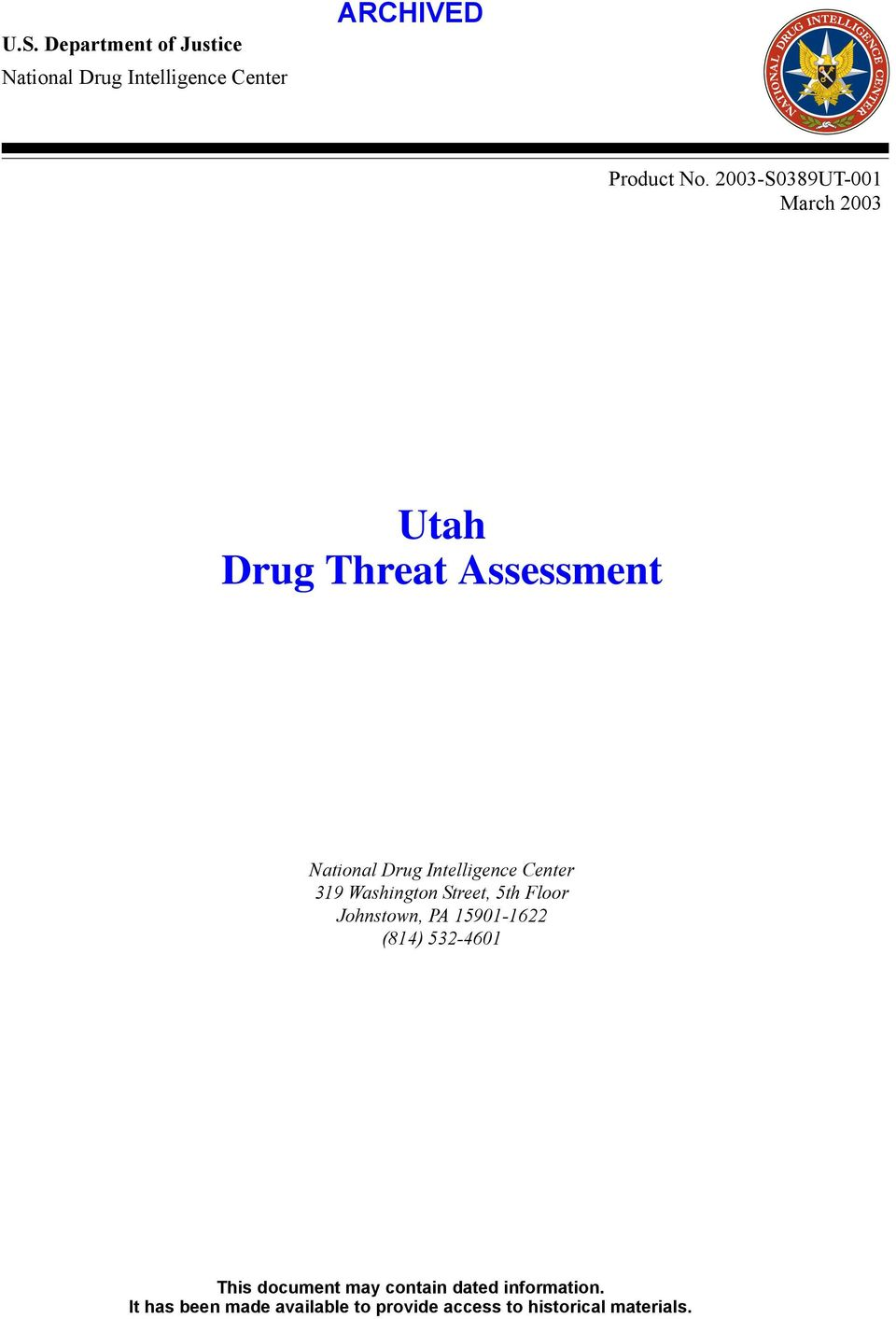 Threat Assessment 319 Washington Street,