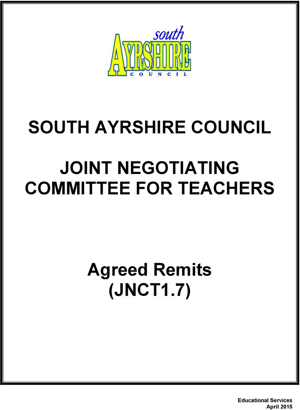 COMMITTEE FOR TEACHERS