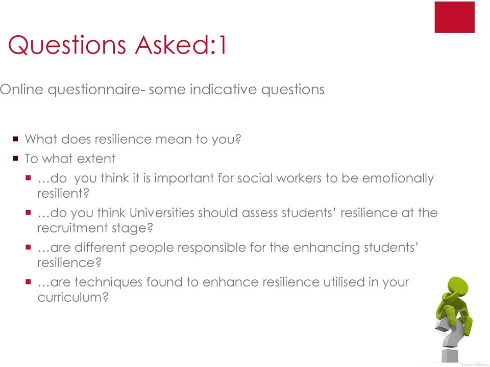 do you think Universities should assess students resilience at the recruitment stage?