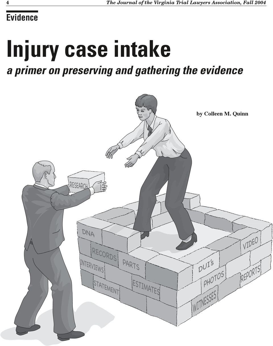 Injury case intake a primer on