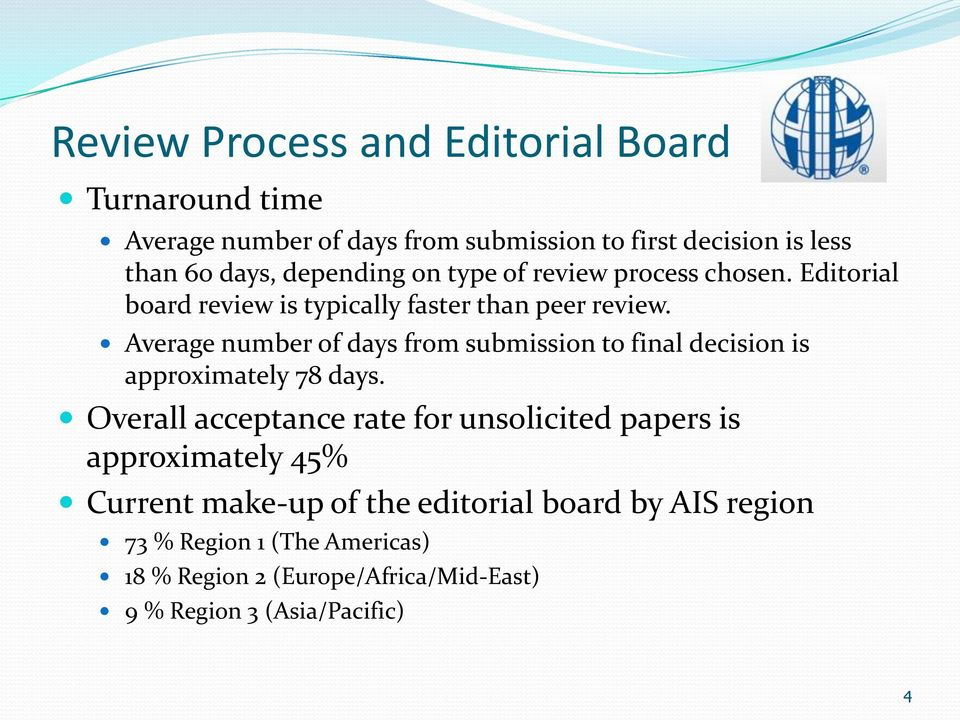 Average number of days from submission to final decision is approximately 78 days.