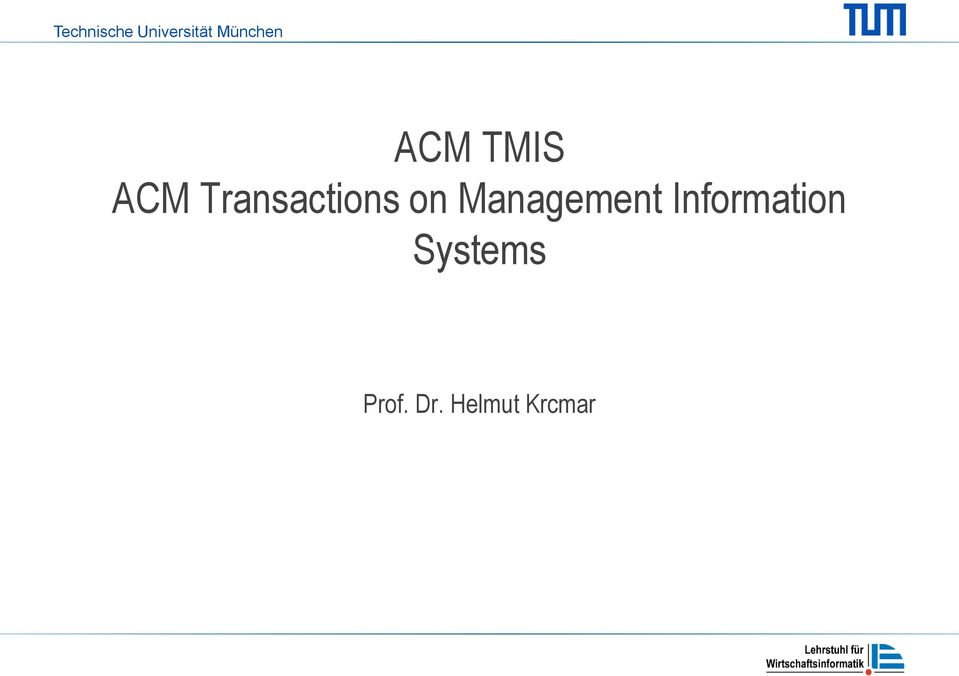 Transactions on Management
