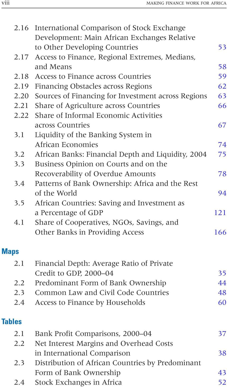 20 Sources of Financing for Investment across Regions 63 2.21 Share of Agriculture across Countries 66 2.22 Share of Informal Economic Activities across Countries 67 3.