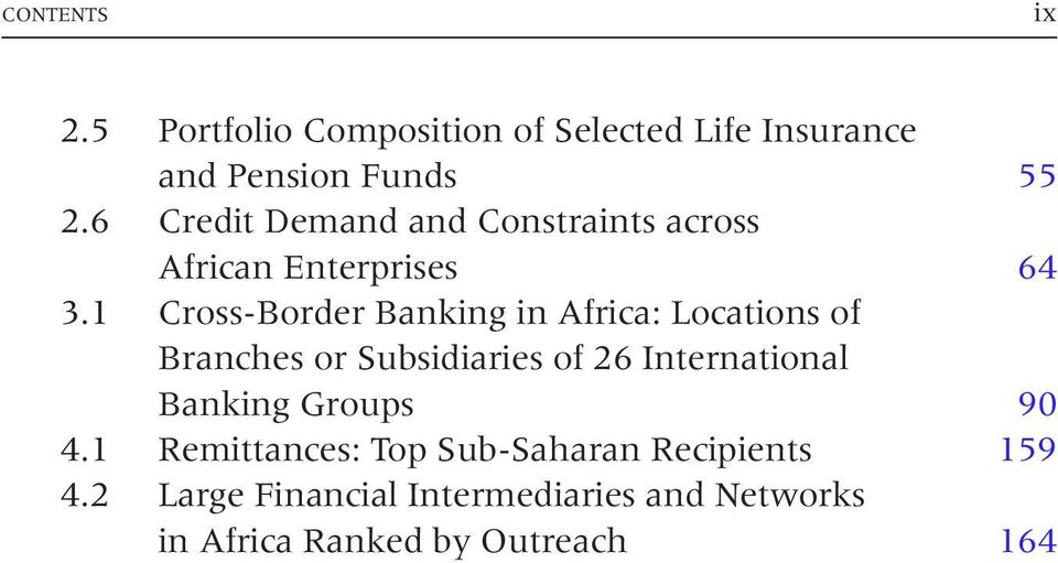 1 Cross-Border Banking in Africa: Locations of Branches or Subsidiaries of 26 International