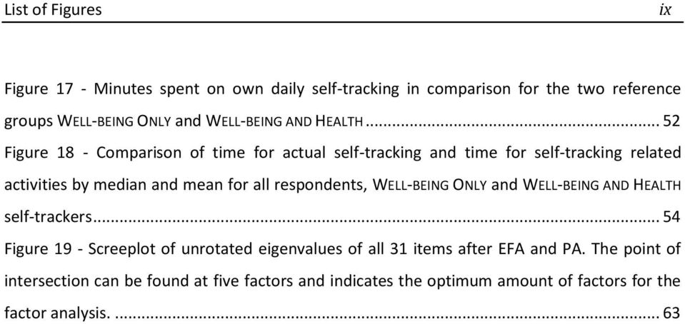 .. 52 Figure 18 - Comparison of time for actual self-tracking and time for self-tracking related activities by median and mean for all