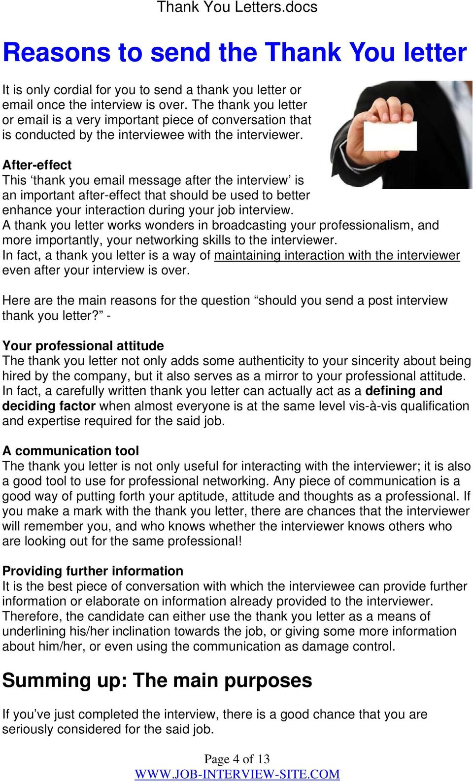 thank you letters after interviews pdf