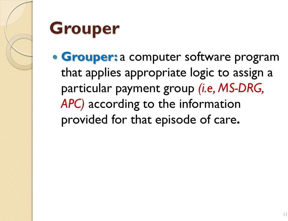 payment group (i.