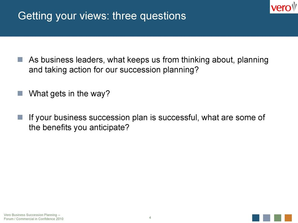 succession planning? What gets in the way?