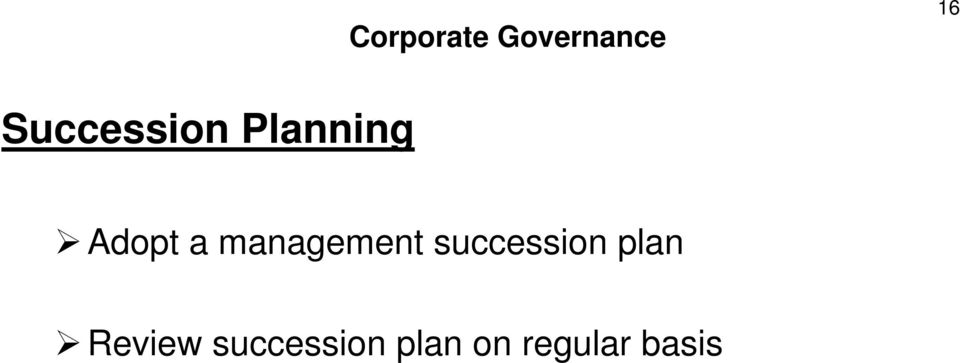 management succession plan