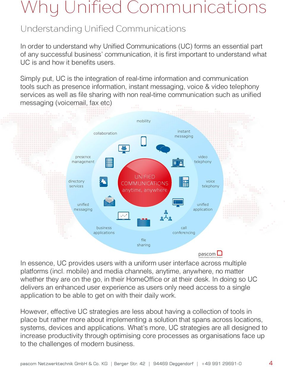 Yours Sincereley, Why Unified Communications Understanding Unified Communications In order to understand why Unified Communications (UC) forms an essential part of any successful business