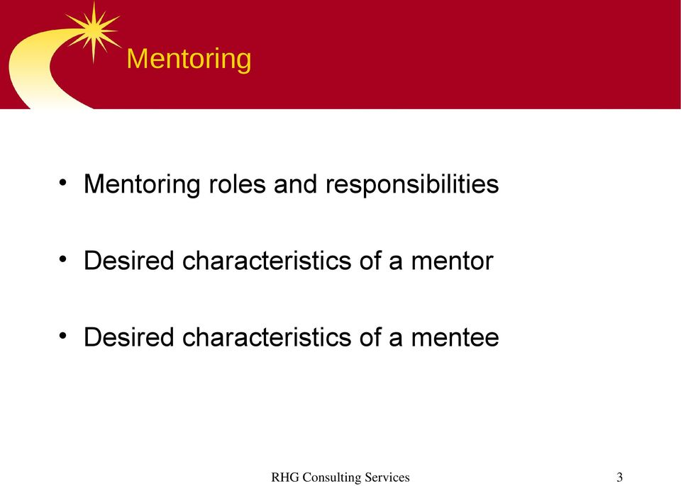 characteristics of a mentor Desired