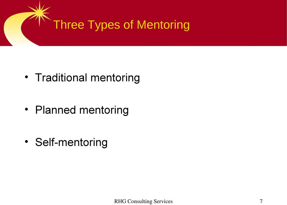 Planned mentoring