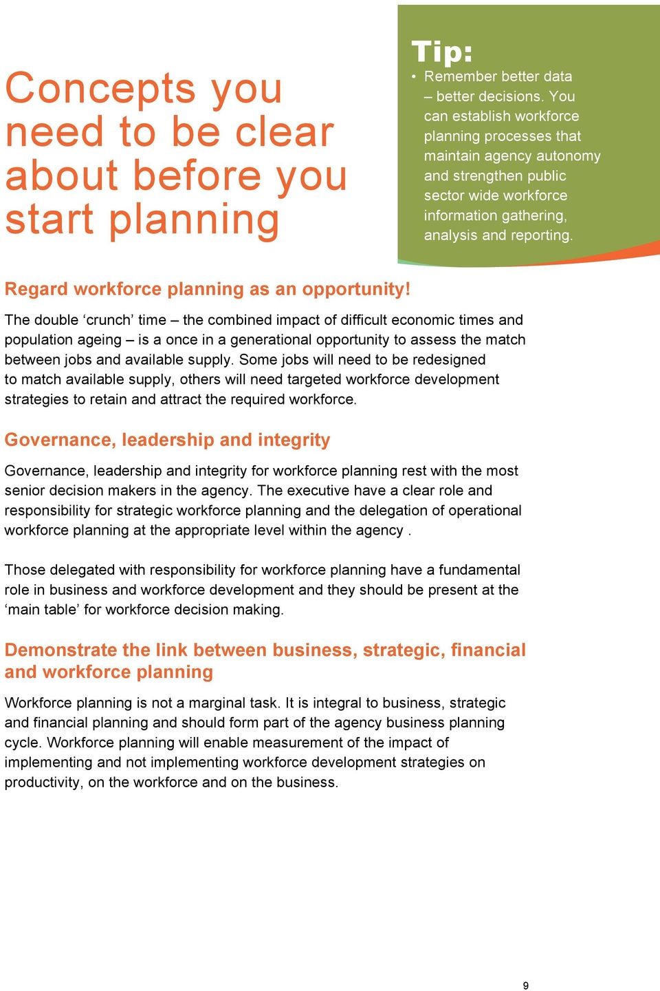 Regard workforce planning as an opportunity!