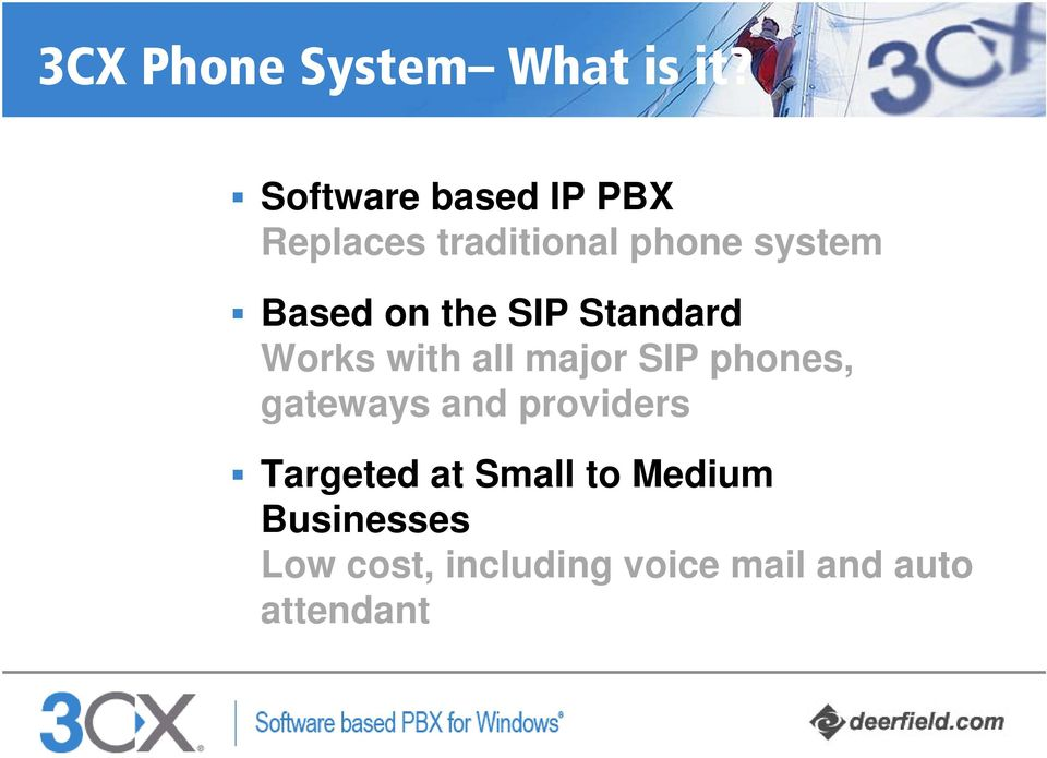 on the SIP Standard Works with all major SIP phones, gateways