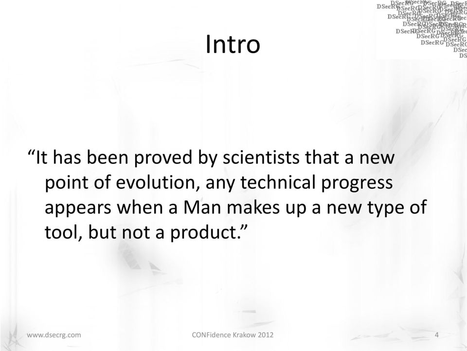 progress appears when a Man makes up a new