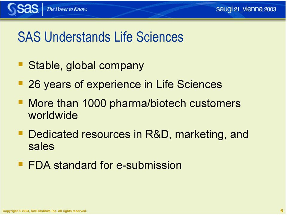More than 1000 pharma/biotech customers worldwide!