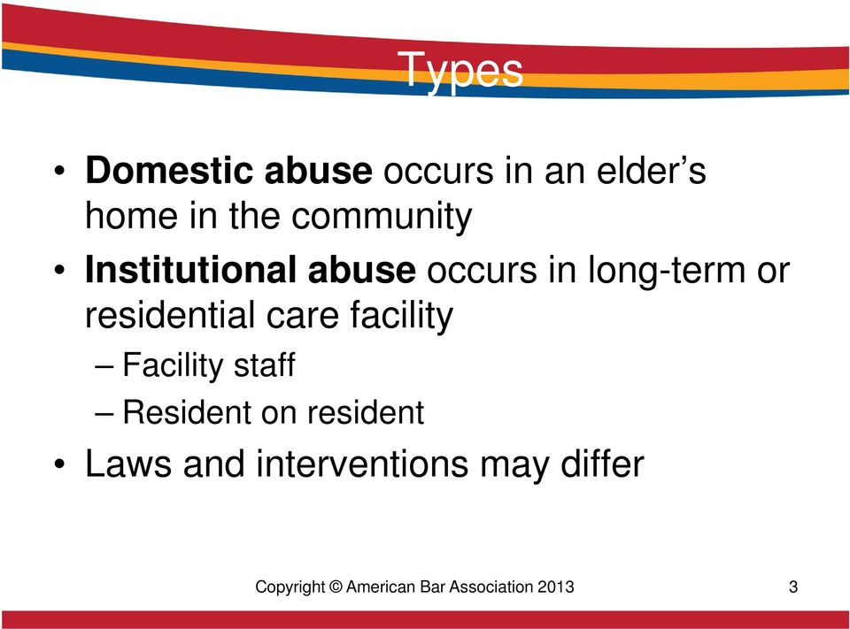 residential care facility Facility staff Resident on