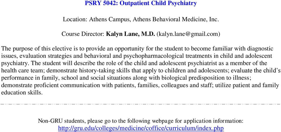 child and adolescent psychiatry.