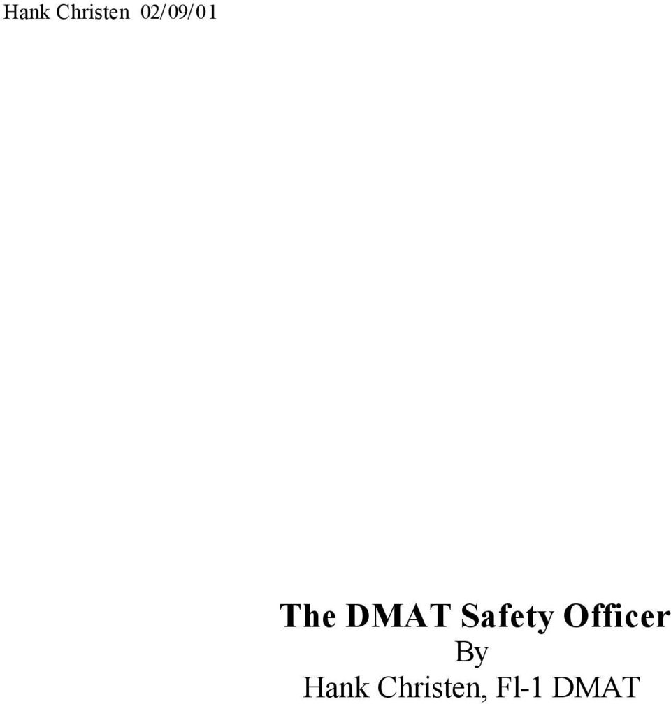Safety Officer By