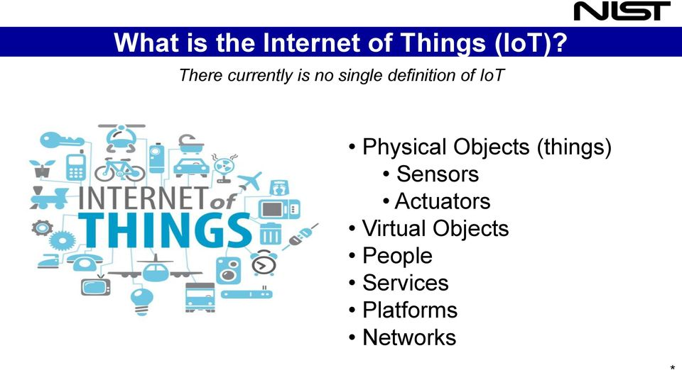 IoT Physical Objects (things) Sensors