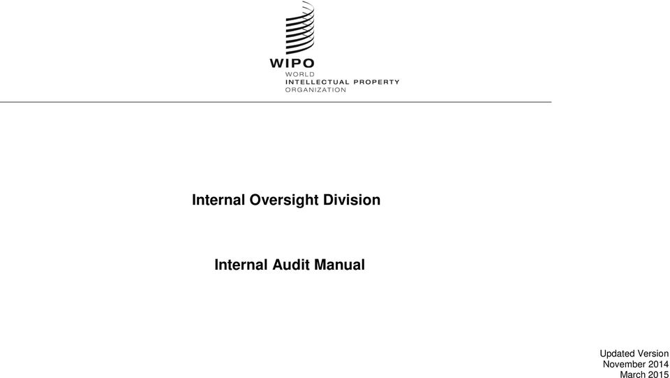 Audit Manual Updated