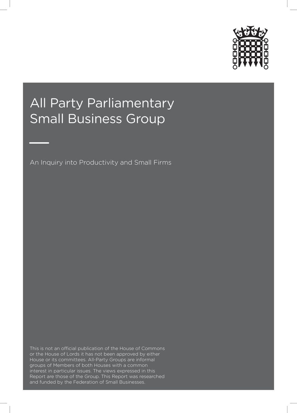 All-Party Groups are informal groups of Members of both Houses with a common interest in particular issues.
