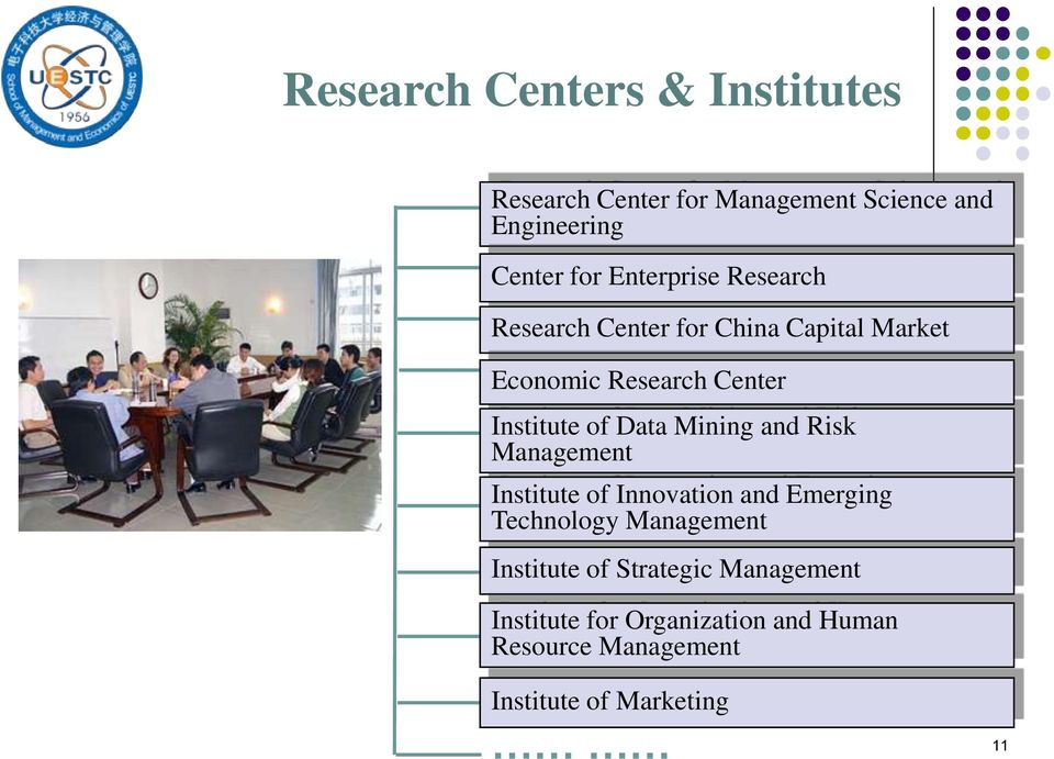 Data Mining and Risk Management Institute of Innovation and Emerging Technology Management Institute