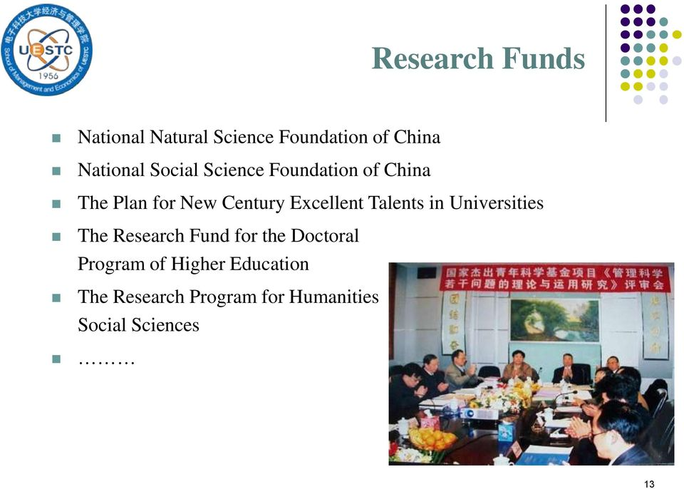 Talents in Universities The Research Fund for the Doctoral Program of