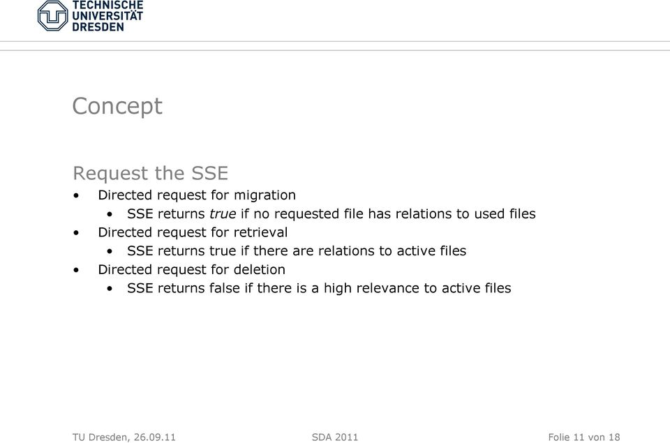 true if there are relations to active files Directed request for deletion SSE returns