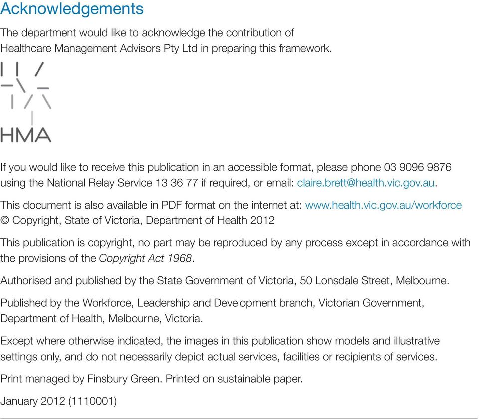 This document is also available in PDF format on the internet at: www.health.vic.gov.