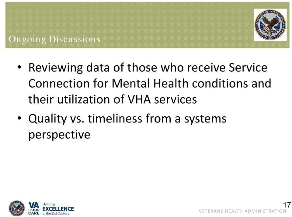 conditions and their utilization of VHA services