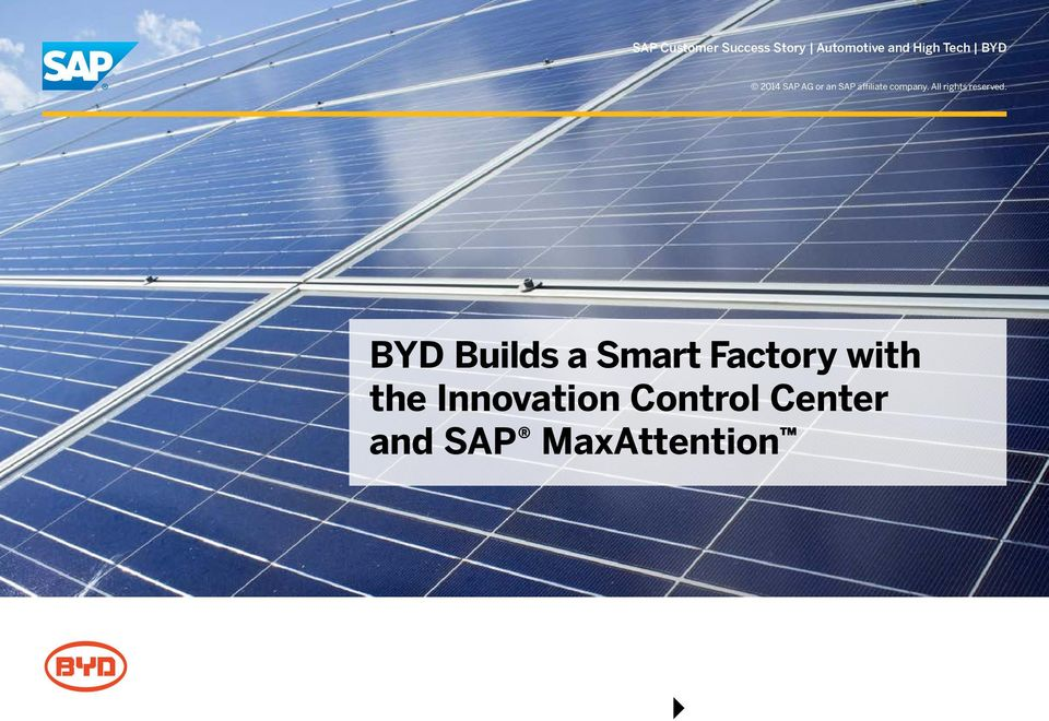 BYD Builds a Smart Factory with the