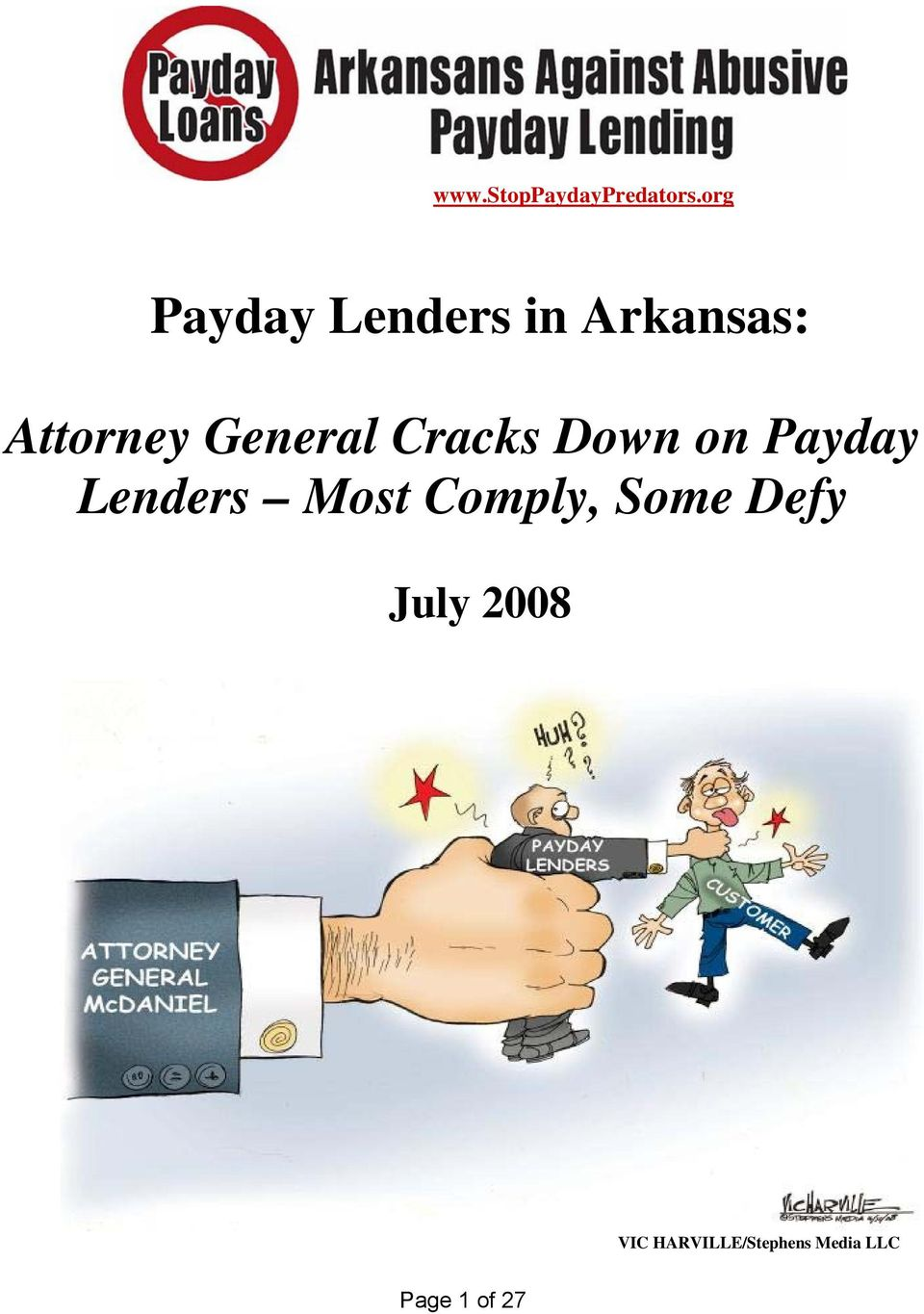 General Cracks Down on Payday Lenders Most