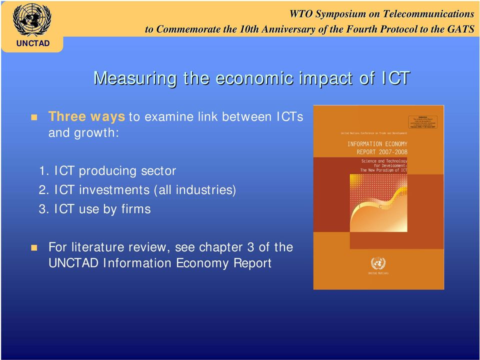 ICT investments (all industries) 3.