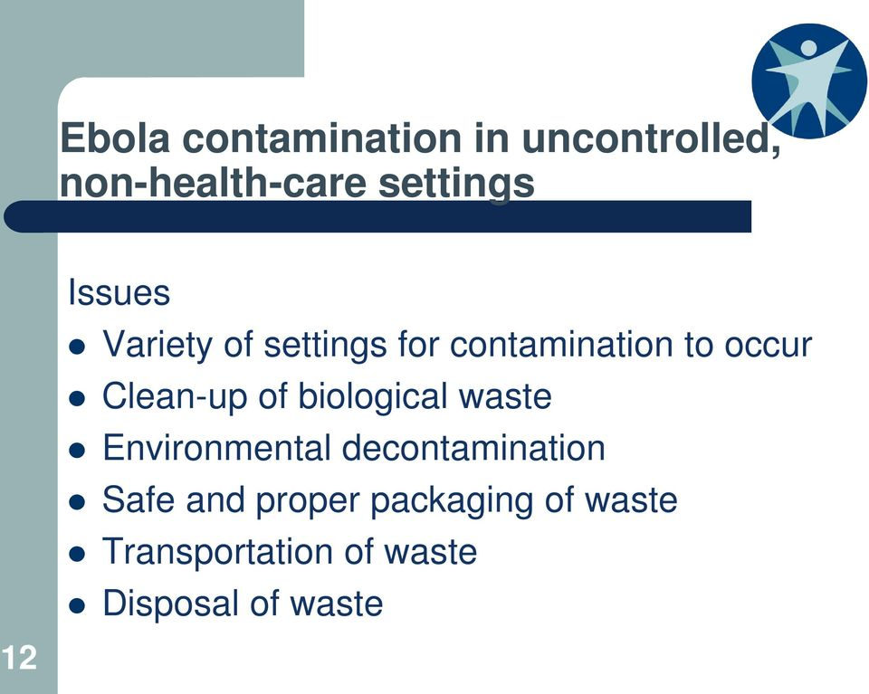 of biological waste Environmental decontamination Safe and