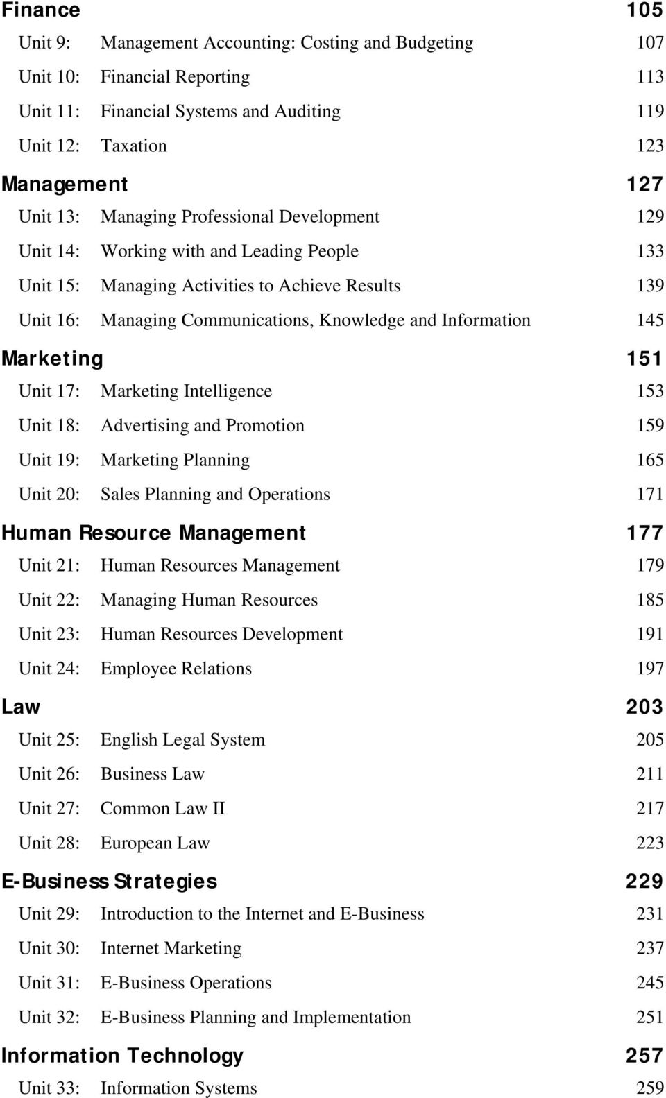 Marketing 151 Unit 17: Marketing Intelligence 153 Unit 18: Advertising and Promotion 159 Unit 19: Marketing Planning 165 Unit 20: Sales Planning and Operations 171 Human Resource Management 177 Unit