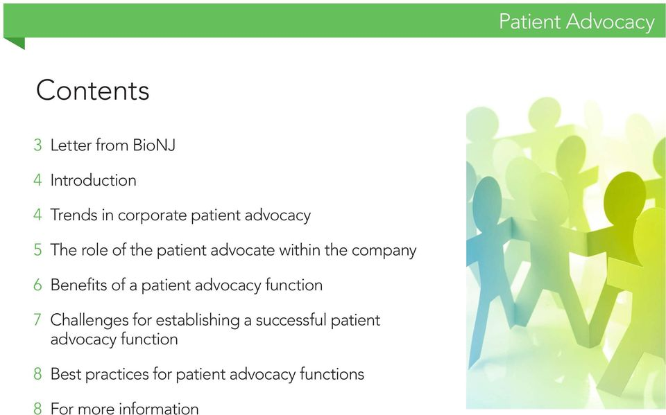 patient advocacy function 7 Challenges for establishing a successful patient