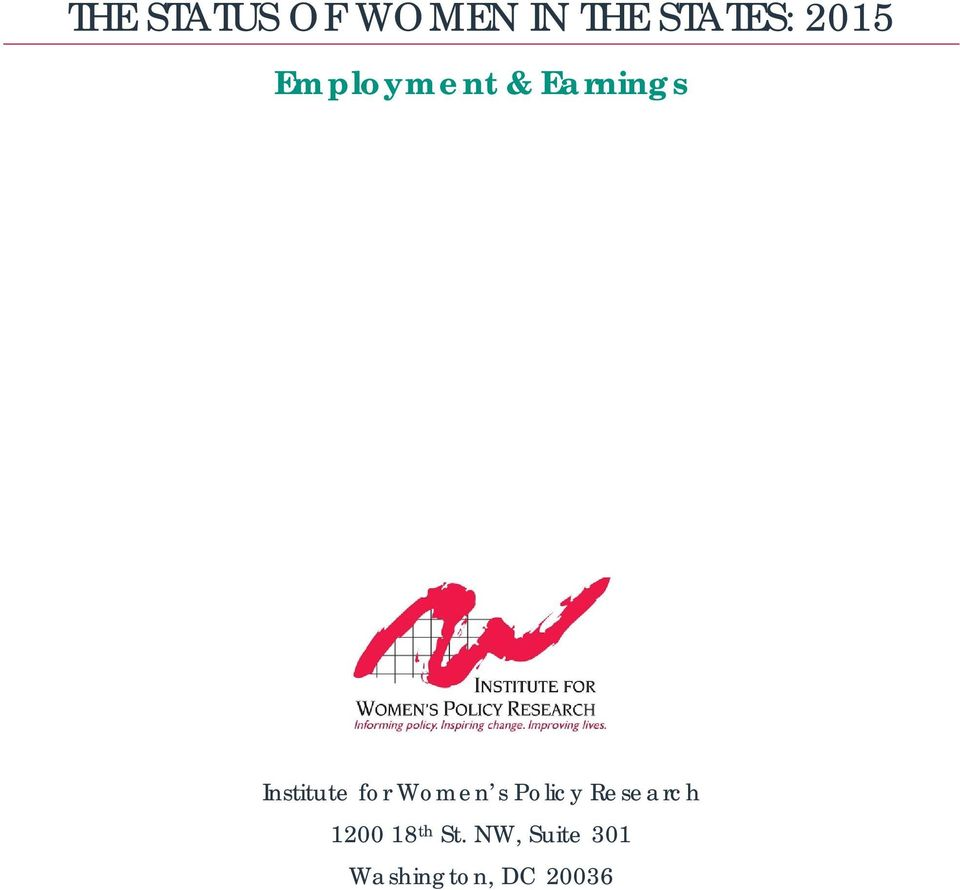 for Women s Policy Research 1200 18