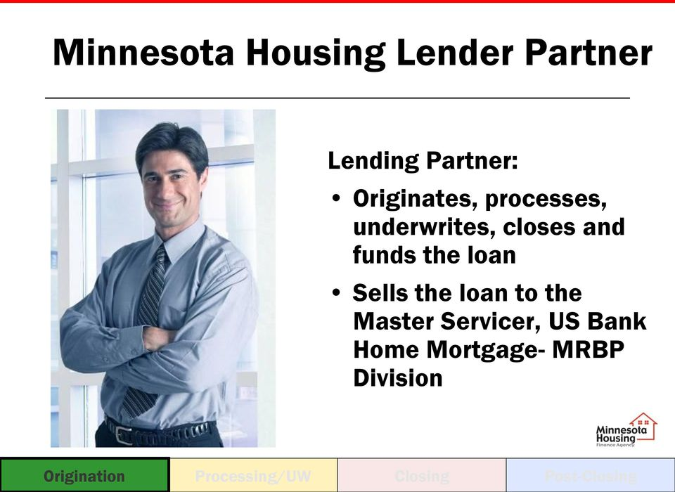 loan Sells the loan to the Master Servicer, US Bank Home