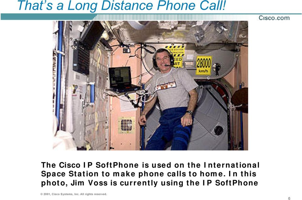 International Space Station to make phone calls