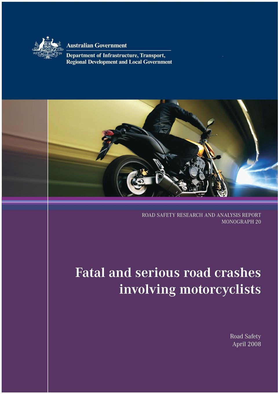 crashes involving motorcyclists Road