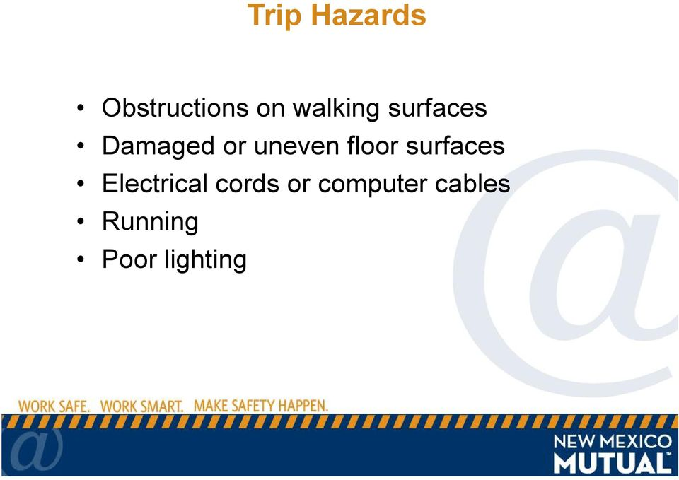 uneven floor surfaces Electrical